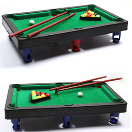 Wholesale Billiards Pool - Wholesale-MINI POOL TABLE Flocking desktop simulation billiards Novelty Mini billiards table sets children's play sports balls Sports Toys