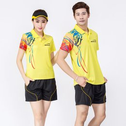 Wholesale Jersey Badminton New - 2017 New Badminton Clothing Good Top Quality Jersey Clothes Yellow White Yellow Blue Red T-shirts And Shorts High Quality