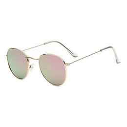 Wholesale Vintage Round Lens Sunglasses - Retro Round Glasses Men Women Metal Round Sunglasses Vintage Small Hippie Glasses Circle Lenses Gold Circle shades Best Price Wholesale