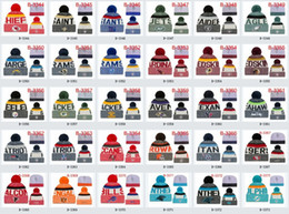 Wholesale Hockey Beanies - winter beanies cap All football Team baseball football basketball beanies sports team Women Men popular fashion winter hat free shipping