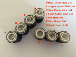 Wholesale Dual Coil Cartomizer Replacements - MOQ is 10pcs skillet coils wax burner dual quartz ceramic coil replacement core head for skillet vaporizer cartomizer