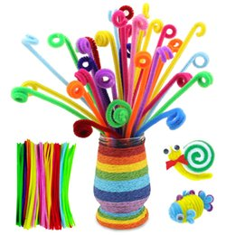 Wholesale Handicrafts Children - 30CM Chenille Stems Pipe Cleaners for crafts Kids DIY Toys Animals Soft Plush Handicraft Educational Toy for Children