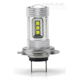 Wholesale Wholesale Motocycle Led - H7 80W LED Bulb Car Fog Light DC12V~24V 360 Degree Motocycle Headlight DRL Lamp Light Sourcing 1600LM 050