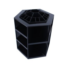 Wholesale Degree Spin Cosmetic Makeup Organizer Box Storage Rack Case Colors black