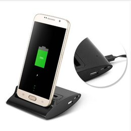 Wholesale Charger Station Galaxy S3 - New products hot sale Dual Sync Battery Charger Cradle For Samsung Galaxy S3 i9300 S4 i9500 Note 4 OTG Dock Station Stand Adapter