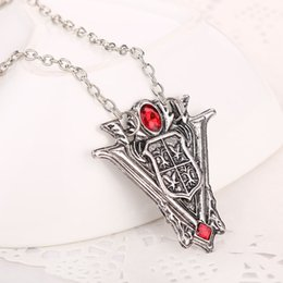 Wholesale Vampire Diaries Movie - 2 colors The Vampire Diaries New Moon Peaks Tower Clock necklaces bronze silver Saga pendants for women movie jewelry 160577