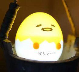 Wholesale Wholesale Individual Led Light - Individual egg yolk brother Nightlight creative Mini LED lights lazy egg yolk Jun gift lamp LLFA