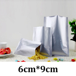 Wholesale Aluminium Foil Food Bag - 6cm * 9cm 6x9 food grade packaging heat seal silver aluminium foil vacuum sealed coffee bags