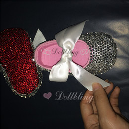 Wholesale Baby Girls Birthday Outfits - Dollbling Bontique Red Botton Crystal Baby 0-1 shoes like mammi's shoes Flower Girl 1st birthday outfit shoes can custom