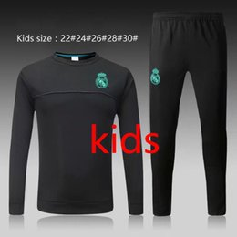 Wholesale Quick Tracks - Thai 17 18 Real Madrid kids soccer Tracksuit MODRIC BALE boys Track suits jacket 2017 2018 Real Madrid chandal training suits sports wear