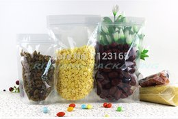 Wholesale Plastic S Clips - 24*37cm,100pcs X Stand up high Transparency PET plastic ZipLock Bags resealable, All Clear packing pouches zipper clip Reusable