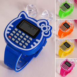 Wholesale Children Calculator - Wholesale- Educational Math Toy Children Silicone Date Multi-function Kids Calculator Wrist Watch Children Toys Learning Education Toy FCI#
