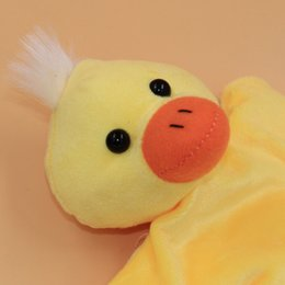 Wholesale Duck Puppets - Wholesale- HOT Baby Kids Child Duck Animal Finger Puppet Infant Kid Toy Plush Toys AUG 31