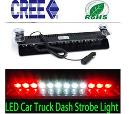 Wholesale Police Strobe Light Bar - Car 12LED STROBE BAR DASH FLASHING POLICE EMERGENCY WARNING LIGHT RED WHITE