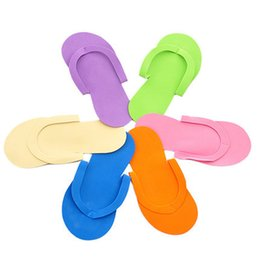 Wholesale Spa Thongs - Wholesale-free shipping 100pcs lot Disposable Slipper   EVA Foam Salon Spa Slipper   Disposable Pedicure thong Slippers   Beauty Slipper