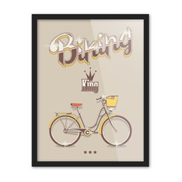 Wholesale Crown Picture - Free shipping novelty gift Bike bicycle king crown pattern home decorative hanging poster photo picture