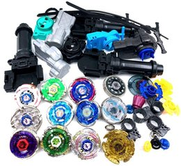 Wholesale Beyblade Metal Fusion Arena - Wholesale Beyblade stadium Metal Fusion 4D Freies spinner top launcher and grip arena children toy Kids Christmas Gift
