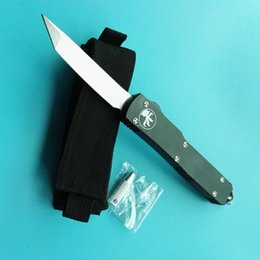 Wholesale Style Hunting - Microtech Ultratech style UT121 3 styles Double action Knives Satin Plain 6061-T6 aluminum handle Tactical knife 1pcs