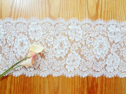 Wholesale Black Kitchens - Lace Table Runners Chair Sashes Wedding Event Accessories Festive Party Supplies Home Textiles Kitchen Dining Bar WHITE BLACK 27*300cm