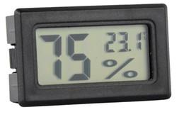 semi di mais all'ingrosso Sconti Termometro interno dell'umidità del termometro del termometro incorporato dell'affissione a cristalli liquidi di Digital dell'umidità del mini LCD bianco nero Trasporto libero