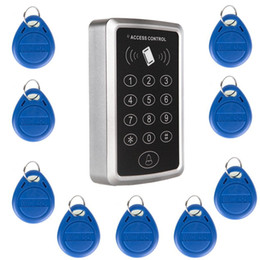 Wholesale Access Entry Systems - Wholesale- 10 pcs RFID keychain125KHz tags Security RFID Proximity Entry Door Lock Access Control System Keypad Door & gate Opener