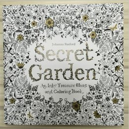 Wholesale Paint Products - 96 Pages Secret Garden Painting Books An Inky Treasure Hunt and Coloring Book Adult Children Relax Graffiti Products