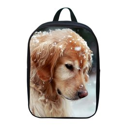 Wholesale Cool Kids Backpacks Wholesale - Wholesale- 12 Inch Cool Printing Dog Animal Mini Children Girls School Bags Small Baby Boys Backpack for Student Bag for Kids Bookbag 003