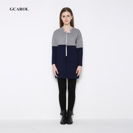 Wholesale Mohair Knitwear - Wholesale- Women Tow-Tone Color Cardigan Mohair Knitted Cardigan Covered Button Soft Handle Knitwear For Spring Autumn Winter