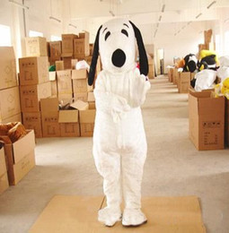 Wholesale Mascot Dog - Plush clothing dog Snoopy mascot costume birthday party ADULT SIZE CUSTOM free delivery of white puppy mascot