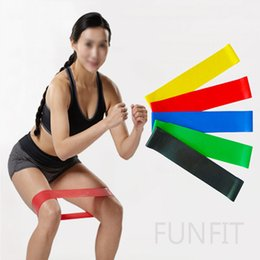 Wholesale Wholesale Workout Bands - Small Best 100% Natural Latex Rubber Home Fitness Elastic Mini Strength Resistance Bands Loop For Total Body Workout