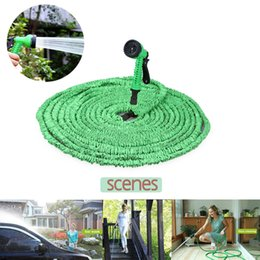 Wholesale Spray 75ft - Magic Hose Expandable Flexible Water Pipe 25Ft 50Ft 75Ft 100Ft 150Ft Spray Nozzle TV Deluxe garden