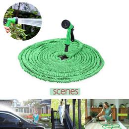 Wholesale Expandable Water Spray - Magic Hose Expandable Flexible Water Pipe 25Ft 50Ft 75Ft 100Ft 150Ft Spray Nozzle TV Deluxe garden