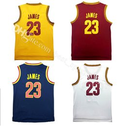 Wholesale High James - 100% Stitched James jersey wholesale cheap Irving high quality LeBron men's Rev 30 basketball jerseys free shipping