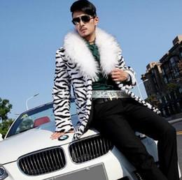 Wholesale Long Mink Fur Collar Coat - Warm casual faux Mink rabbit long fur coat mens leather jacket men coats villus winter loose thermal outerwear fur collar casual