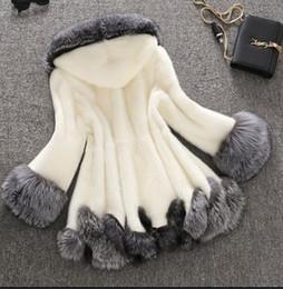 Wholesale New Mink Coats Women - S-3xl Large Size 2016 Winter New Imitation Fox Fur Coat Mink Luxury Women Faux Long Warm Slim Dress Female Outwear Overcoat