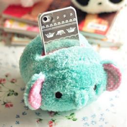 Cómics de teléfonos celulares online-Kawaii Elefante Plush Phone Holder Cell Phone Seat Toys