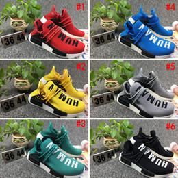 Wholesale cheap women fashion - [With Box] 2017 Cheap Human Race NMD pharrell williams Women Men Fashion Outdoor Training Sneaker nmd Human Races Running Shoes
