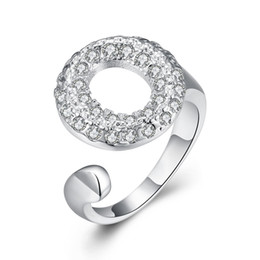 Wholesale O Rings Jewelry - Free shipping Wholesale 925 Sterling Silver Plated Fashion Insert opening O ring - Opening Jewelry LKNSPCR028