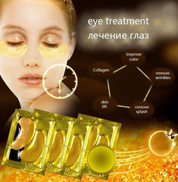 Wholesale 24k Eye Mask - Free shipping 24K gold Collagen Crystal Eye Masks Patches Sheet moisturizing Eye Cream