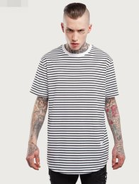 Wholesale Long Sleeve Shirt Types - Men's fashion Spring and Autumn 2016 Slim-type long-sleeved T-shirt stripe heart Pure cotton casual O-neck Tees for men and women