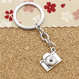 Wholesale Key Camera 16 - 15pcs Fashion Diameter 30mm Metal Key Ring Key Chain Jewelry Antique Silver Plated retro camera 16*21*6mm Pendant