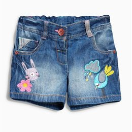 Wholesale Short Jeans Design - Girl Pants New Design Summer Jeans with Animal Cotton Short Pants For Baby Girls Hot Sale Jeans
