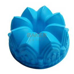 Wholesale Microwave Bread Baking - Wholesale- Large crown silicone cake mold microwave baking tools novelty cake molds bread moulds pastry mold SCM-003-4