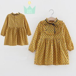 Wholesale Children S Wholesale Lace Dress - Girl's Dresses Children 's dress long - sleeved Floral spring and summer new lace bow children 's clothing 975