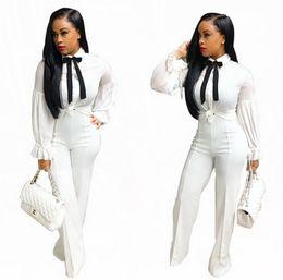 Wholesale Printed Chiffon Button Blouse - Fashion belt chiffon long sleeve blouse hot style