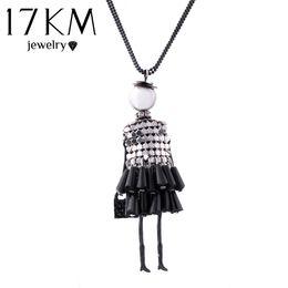 UK 17KM Fashion doll Pendant Necklace Lovely Dress Doll Necklaces & Pendants Maxi collares Women collier Long Necklace colar DHgate Mobile