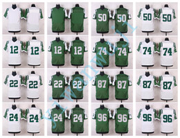 Wholesale Men Elite Style Stitched jetz Blank NAMATH FORTE REVIS LEE MANGOLD DECKER WILKERSON White Green football jerseys
