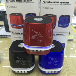 Argentina T-2306A Patrón de Ángel Mini Protable Bluetooth Altavoces Inalámbricos Soporte TF Card VS T-2020A Altavoz Ducha Impermeable Altavoz Píldora 2 Altavoces cheap pill mini bluetooth Suministro