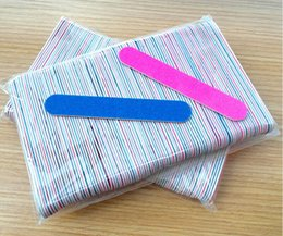 Wholesale Disposable File - Professional Nail Files Sandpaper Buffers Slim Crescent Grit 180 240 tools disposable cuticle remover callus polish pack