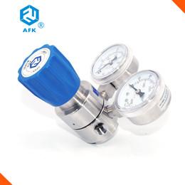 """Wholesale Pressure Nitrogen - AFK High pressure single stage 1 4""""NPTF inlet max. 200bar outlet 50bar stainless steel 316L oxygen nitrogen argon gas regulator"""